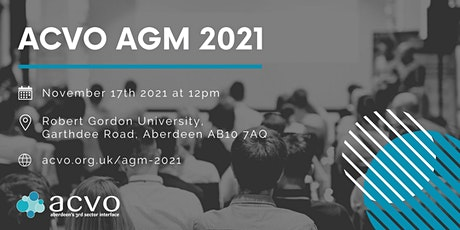 ACVO's Annual General Meeting tickets