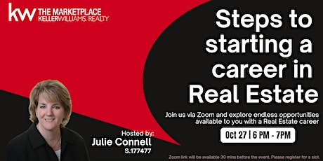 Steps to starting a career in Real Estate - Zoom 2 tickets