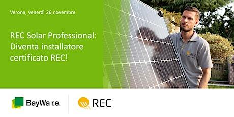 Verona, REC Solar Professional: diventa installatore certificato REC! biglietti