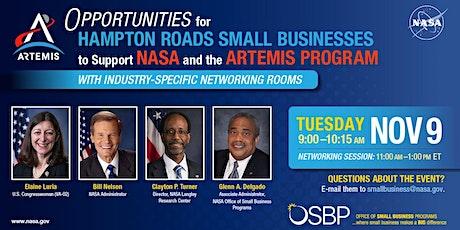 Opp. for Hampton Roads Small Businesses to Support NASA's Artemis Program ingressos