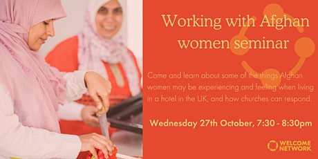 Working with Afghan women seminar tickets