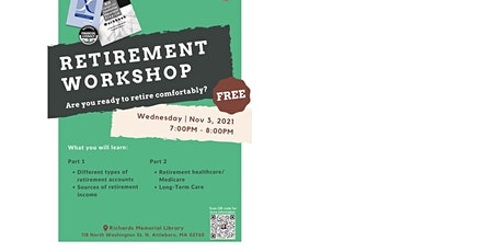 Free Retirement Workshop - North Attleboro Richards Memorial Library tickets