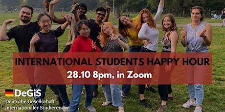 International Students Virtual Happy Hour! tickets