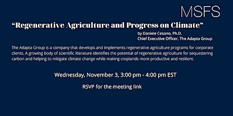 """""""Regenerative Agriculture and Progress on Climate""""  by Daniele Cesano tickets"""