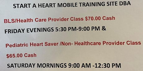 BLS/ Healthcare Provider CPR Classes tickets