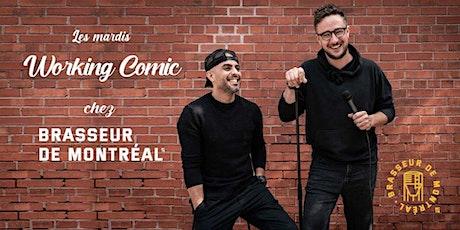 Les mardis Working Comic chez Brasseur de Montréal tickets