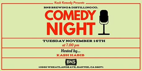 Comedy Night at BNS Brewing tickets