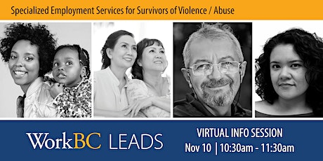 WorkBC LEADS: Employment program for survivors of violence/abuse tickets