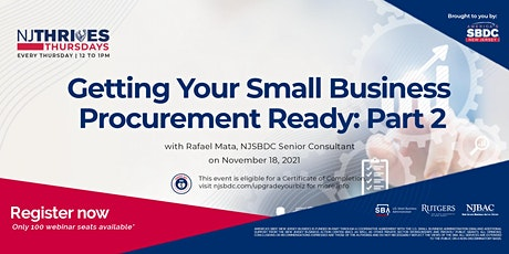 Getting Your Small Business Procurement Ready: Part 2 tickets