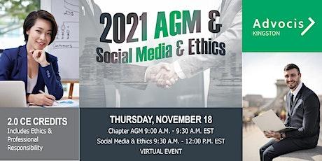 Advocis Kingston:  AGM & Social Media & Ethics tickets