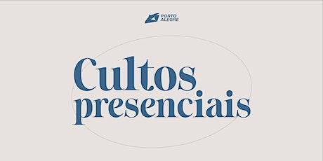 CULTOS PRESENCIAIS DOMINGO  24/10 ingressos