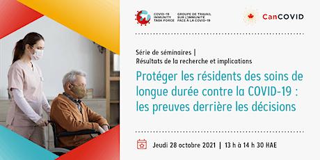 Protéger les résidents d'établissements de soins de longue durée au Canada billets