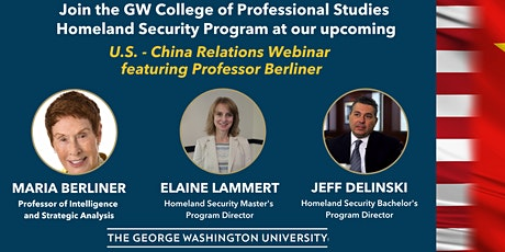 GW Homeland Security Master of Professional Studies: U.S. - China Relations tickets