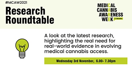 Medical Cannabis Awareness Week 2021: Day 3 - Research Roundtable tickets