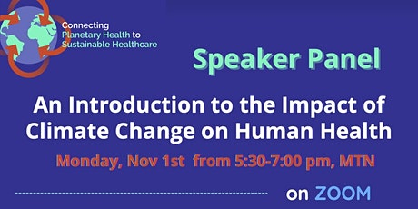An Introduction to the Impact of Climate Change on Human Health tickets