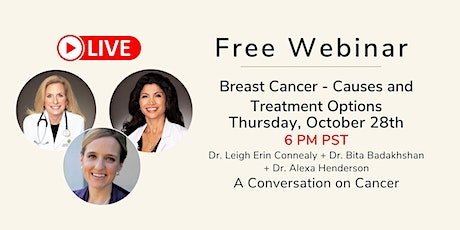 Breast Cancer Causes & Treatment Options LIVE Webinar tickets