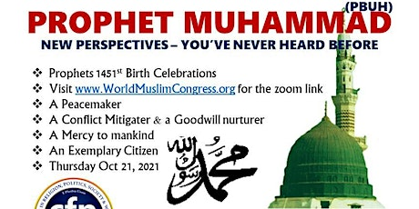 **MUHAMMAD(PBUH) - A NEW PERSPECTIVE** tickets