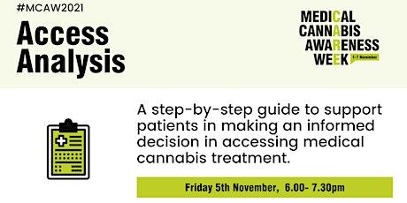 Medical Cannabis Awareness Week 2021: Day 5 - Access Analysis tickets