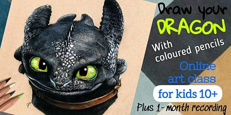 Draw Your Dragon with Coloured Pencils - Art Webinar for Children 10+ tickets