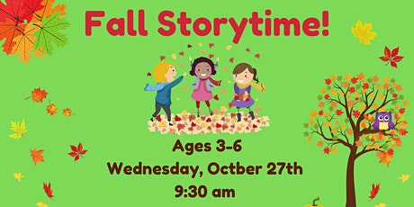 Wednesday Morning Fall Storytime, Ages 3-6, October 27th @ Gardner Field tickets