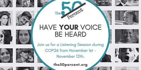 COP26 Listening Session (Day #1) tickets