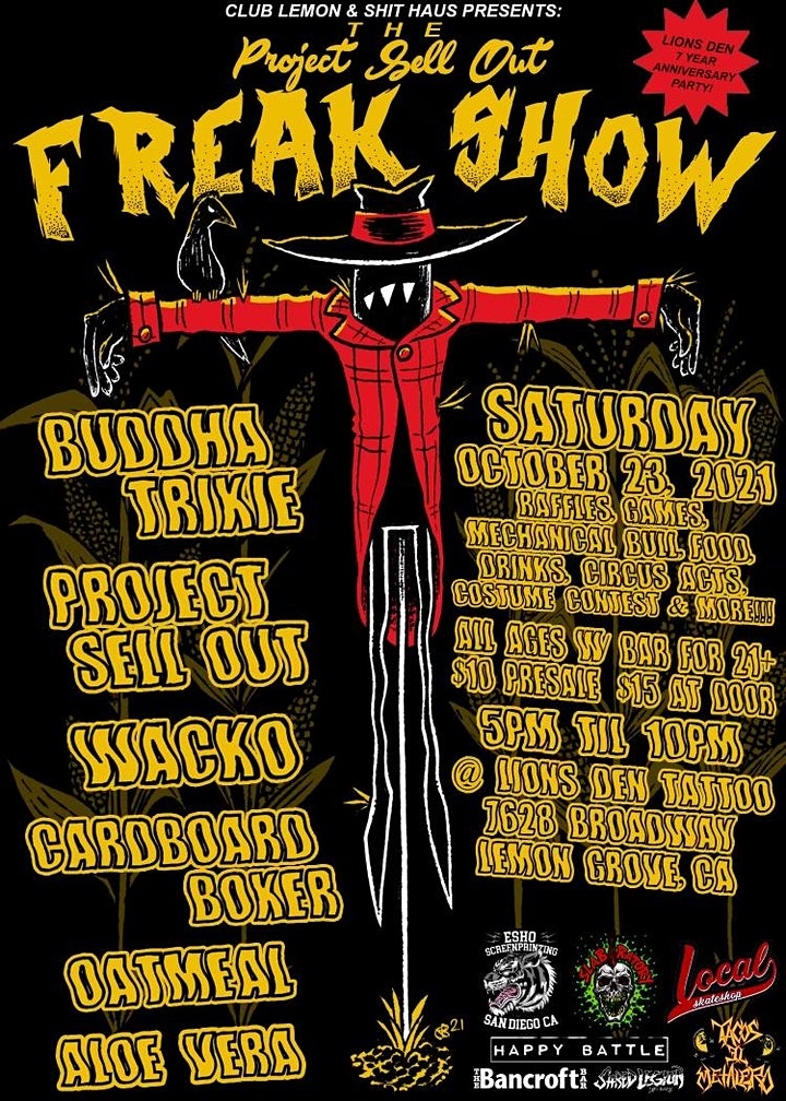 """Project Sell Out's """"FREAK SHOW"""" image"""