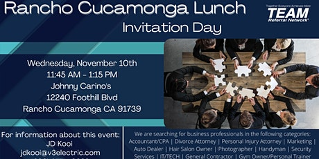 Rancho Cucamonga Lunch Invitation Day tickets