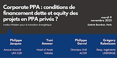 Corporate PPA : Conditions de financement dette et equity des projets billets