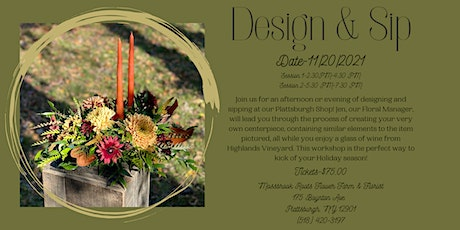 Design & Sip SESSION 1 tickets