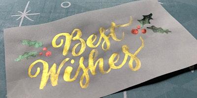 Brush Lettering for Christmas