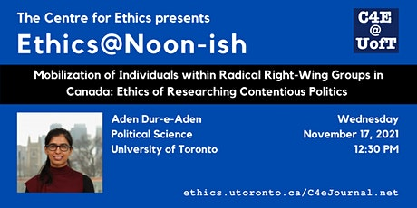 Mobilization of Individuals within Radical Right-Wing Groups in Canada tickets