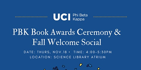 2021 PBK BOOK AWARDS CEREMONY & FALL WELCOME SOCIAL tickets
