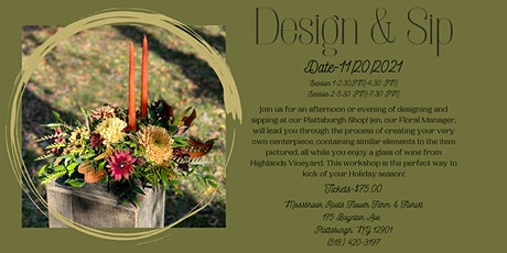 Design & Sip SESSION 2 tickets