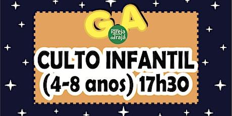 CULTO G.A - CRIANÇAS (4 A 8 ANOS) - 24/10/2021 - 17:30 ingressos