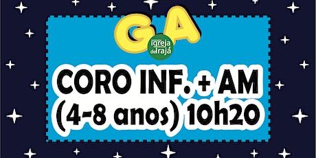 CORO INFANTIL E AMIGOS DE MISSÕES (4 A 8 ANOS) - 24/10/2021 - 10:20 ingressos