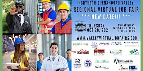 Northern Shenandoah Valley REGIONAL Virtual Job Fair - (EMPLOYERS ONLY) tickets