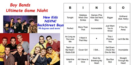 Boy Bands  Ultimate Game Night (NSYNC, Backstreet Boys, New Kids & More) tickets