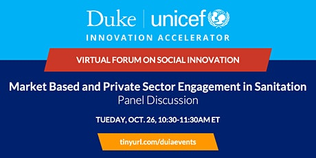 Panel Discussion: Market Based and Private Sector Engagement in Sanitation tickets