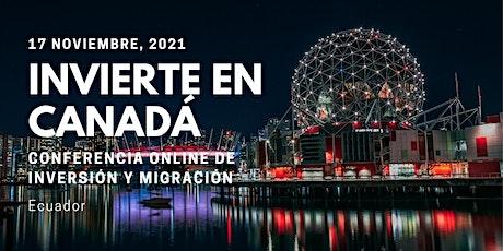 Ecuador Canadian Immigration Event Zoom Meeting entradas