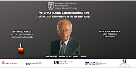 Yitzhak Rabin Commemoration 2021 tickets