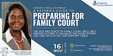 A Father's Guide to Family Court tickets