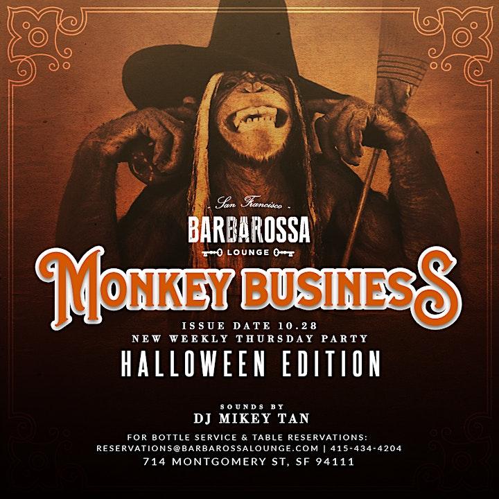 Monkey Business Thursdays- San Francisco's #1 Social Event at Barbarossa image