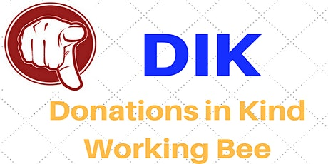 Donations in Kind working Bee 2021 tickets