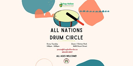All Nations Drum Circle: in-person&virtual tickets