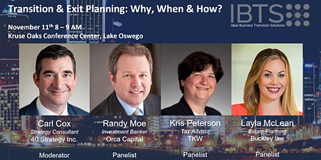Transition & Exit Planning: Why, When & How? tickets