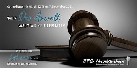 Gottesdienst mit Martin Kölli Tickets