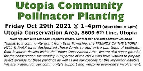 Utopia Conservation Area Community Pollinator Planting tickets