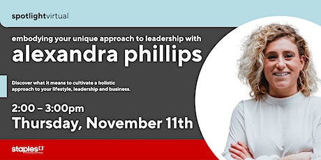 Embodying your Unique Approach to Leadership tickets
