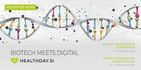 HealthDay.si Conference 2021: Biotech Meets Digital tickets