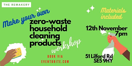 Make your own zero waste house cleaning products tickets